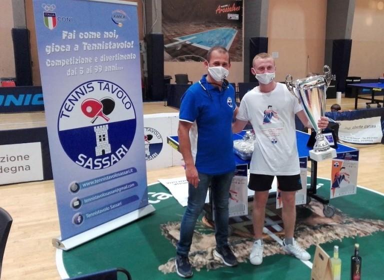 Tennistavolo Sassari - Trofeo città dei candelieri - Presidente Cilloco e Amato